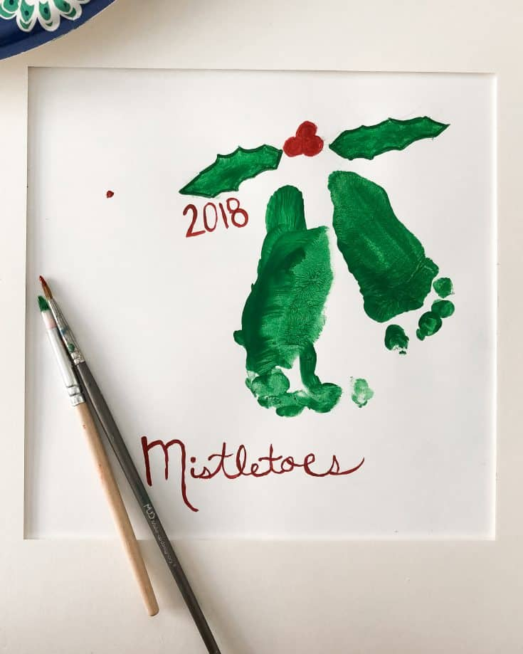 Mistletoe Footprints